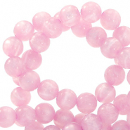Polaris Perlen 8 mm rund pearl shine Quarzo pink
