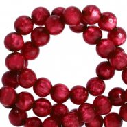 Polaris Perlen 6 mm rund pearl shine Rubino red