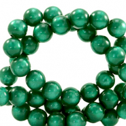 Super Polaris Perlen 6 mm rund Agate green