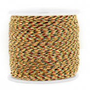Macramé Band 0.8mm Mixed brown-gold