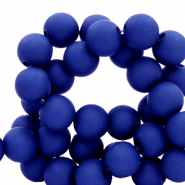 8 mm Acryl Perlen matt Dark princess blue