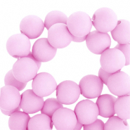6 mm Acryl Perlen matt Pink