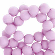 4 mm Acryl Perlen matt Orchid bloom lilac