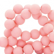 8 mm Acryl Perlen matt Salmon pink