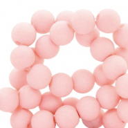 8 mm Acryl Perlen matt Cosmetic peach