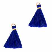 Perlen Quaste 1.5cm Gold-princess blue