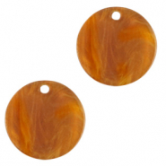 Resin Anhänger rund 12mm Golden brown