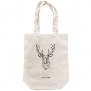 "Fashion Tasche Canvas ""oh deer"" Off white"
