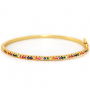 Zirkonia Rainbow Bangle Armband Gold