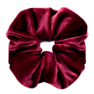 Haargummi Velvet Port red