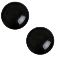 12 mm classic Cabochon Polaris Elements Mosso shiny Jet black