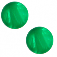 12 mm classic Cabochon Polaris Elements Mosso shiny Bright green