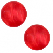 12 mm classic Cabochon Polaris Elements Mosso shiny Flame scarlet red