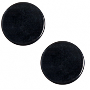 12 mm flach Cabochon Polaris Elements Lively Jet black