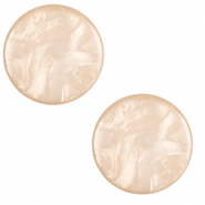 20 mm flach Cabochon Polaris Elements Lively Tan brown
