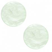 12 mm flach Cabochon Polaris Elements Lively Ash green