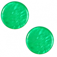 12 mm flach Cabochon Polaris Elements Lively Bright green
