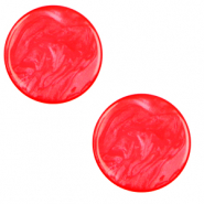20 mm flach Cabochon Polaris Elements Lively Flame scarlet red
