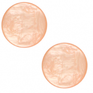 12 mm flach Cabochon Polaris Elements Lively Peachy orange