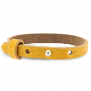 Cuoio Armbänder Leder 8 mm für 12 mm Cabochon Honey yellow