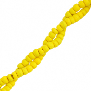 Kokos Perlen Disc 4mm Freesia yellow
