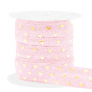Elastisches Band Herz Light pink-gold