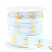 Elastisches Band Anker Light blue-gold