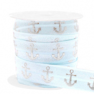 Elastisches Band Anker Light blue-silver
