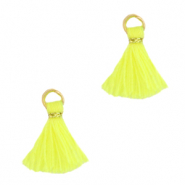 Perlen Quaste 1cm Gold-neon yellow