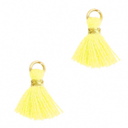 Perlen Quaste 1cm Gold-sunshine yellow