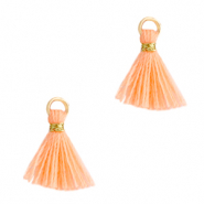 Perlen Quaste 1cm Gold-bright peach