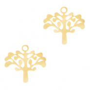 Stainless Steel - Rostfreiem Stahl Anhänger Tree of Life Gold