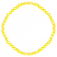 Facett Glas Armbänder 4x3mm Blazing yellow-pearl shine coating
