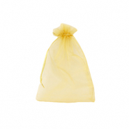 Schmuckbeutel Organza 7x9cm Golden yellow