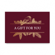 "Schmuck Karten ""A gift for you"" Red"