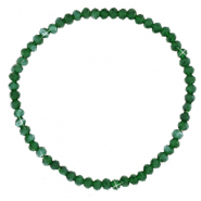 Facett Glas Armbänder 3x2mm Dark green-pearl shine coating
