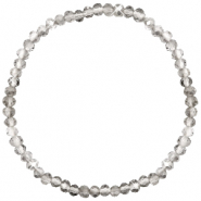 Facett Glas Armbänder 4x3mm Light grey-pearl shine coating