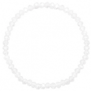 Facett Glas Armbänder 4x3mm Crystal-pearl shine coating