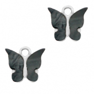 Anhänger 1 Öse Butterfly Anthracite-silver