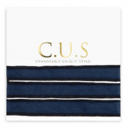 C.U.S Schmuckband Shiny intense dark blue