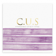 C.U.S Schmuckband Dip dye heather purple