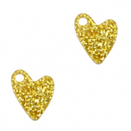 Plexx Anhänger Heart Glitter Golden yellow
