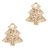 Plexx Anhänger Christmas Tree Glitter Rose peach