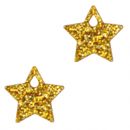 Plexx Anhänger Star Glitter Golden yellow
