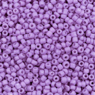 Glasperlen Rocailles 12/0 (2mm) Deep lavender purple