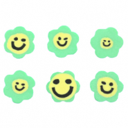 Polymer Perlen Blume Smiley Green
