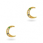 Zirkonia brass elements Rainbow Moon Gold
