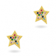 Zirkonia brass elements Rainbow Star Gold