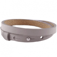 Cuoio Armbänder Leder 8 mm für 12 mm Cabochon doppel taupe