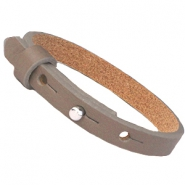 Cuoio Armband Leder 8 mm für 12 mm Cabochon taupe